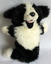 THE PUPPET COMPANY - LONG-SLEEVED GLOVE PUPPET – BLACK & WHITE DOG