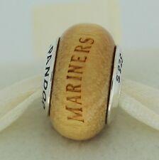 Authentic Pandora USB790705-G025 Seattle Mariners Baseball Wood Bead Charm