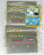(5) Pokemon SEALED Packs MARILL Card BLACK STAR PROMO Wizards of the Coast WOTC