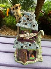 Blue Sky Clayworks Howlin Mansion Haunted House Heather Goldminc Tealight Holder