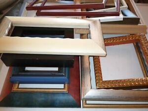 Konvolut 13 HOCHWERTIGE LEERrahmen Bilderrahmen verschiedene Gr+Farbe Massivholz