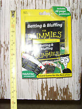 Betting Bluffing for Dummies Card Game / guidebook NEW set poker NEW 7-card stud