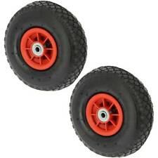 """2 10""""  3.00-4 Spare INFLATABLE PNEUMATIC Wheels Carp Fishing Trolley Sack Truck"""