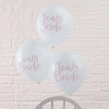 10X PINK & WHITE TEAM BRIDE HEN PARTY BALLOONS HEN NIGHT DECORATIONS ACCESSORIES