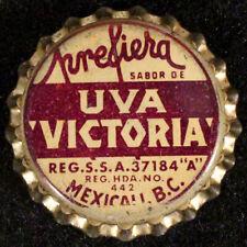 """PREFIERA UVA """"VICTORIA"""" GRAPE CORK SODA BOTTLE CAP CROWNS BAJA, MEXICALI, MEXICO"""
