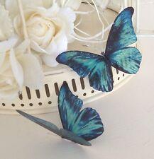 Wedding Venue Butterfly Table Decorations 5 Sparkling 3D Vivid Teal Butterflies