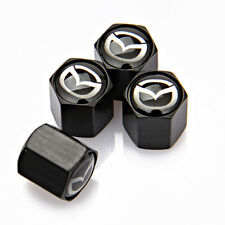 4x Universal Car Auto Tyre Valve Stems Caps Tire Dust Cover Logo Fit For Mazda