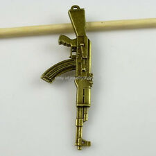 11219 4PCS AK47 Assault Rifle Pendant Alloy Vintage Antique Style Bronze Tone