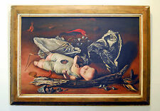 FRANCIS DE ERDELY 1940 WW2 Oil Painting - Signed - California - Erdélyi Ferenc