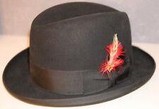 Biltmore Imperial Homburg Black Fedora Hat Sz: 7 3/4 , 62.. NEW