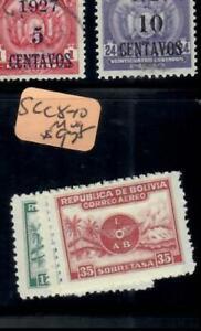BOLIVIA (P2709B)   AIRPLANE A/M    SC  C8-10    MOG
