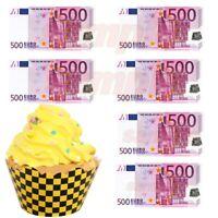 500 EURO Geld Essbar Muffinaufleger Tortenaufleger Party Deko neu Geburtstag