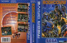Bodycount sega mega drive pal remplacement box art case insert cover scan repro