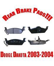 Dodge Dakota 2003-2004 3.7L 3.9L 4.7L 5.9L Rear Ceramic Brake Pads