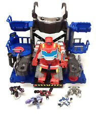 Transformers Robot Heroes Squad Toys HEADQUARTERS PLAYSET with Figures imaginext