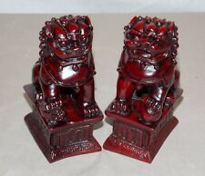 """NEW PAIR (2) CHINESE ORIENTAL FOO DOGS IMPERIAL LIONS FUNG SHUI STATUE FIGURE 4"""""""