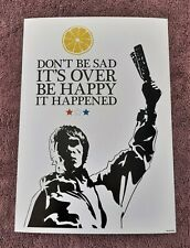 More details for the stone roses/ian brown/don't be sad a4 size typography art print/poster