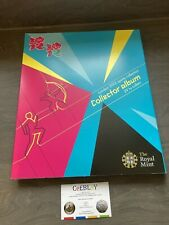 LONDON 2012 OLYMPIC GAMES 50p SPORTS COLLECTOR ALBUM LIGHTLY USED CONDITION SUN