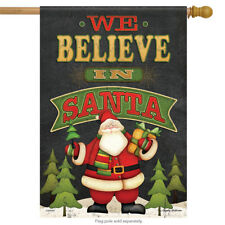 "We Believe Christmas House Flag Gifts Santa Trees Holiday Winter 28"" x 40"""