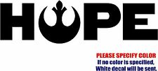 Star Wars HOPE Decal Sticker JDM Funny Vinyl Car Window Bumper Truck Laptop 7""