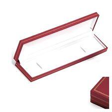 écrin coffret pour Gourmette / Bracelet SIMILI CUIR rouge Boite Cadeau NEUF