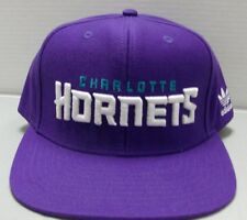 Charlotte Hornets NBA adidas Snapback Adjustable Purple Hat / Cap Free Ship