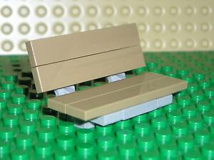 Custom LEGO Park Bench Garden Seat Light Bluish Gray Frame Choose Seat Colour