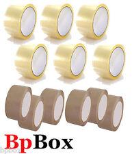 12 Sealing Tape Roll 2 X 110 Yard 6 Light Tan Light Brown 6 Clear