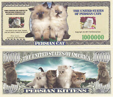 Persian Cat Novelty Currency Bill # 930