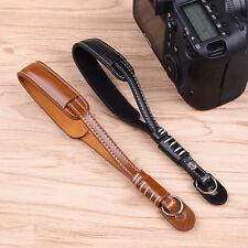 Hot Coffee Leather Camera Strap Wrist Hand Belt Strap Lanyard for DSLR Camera