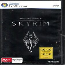 D5 The Elder Scrolls V: Skyrim (PC: Windows, 2011) + Manual & map PC DVD