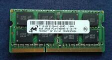 4GB DDR3 RAM SO-DIMM PC3-10600S 2Rx8 1333 MHz 1.5V Notebook Speicher CL9 MDT