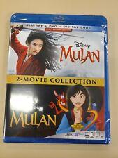 DISNEY MULAN 2 MOVIE COLLECTION BLURAY & DVD & DIGITAL SET with Ming-Na Wen
