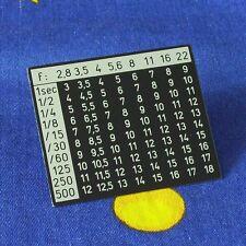 Rolleiflex 3,5F und 2,8F Belichtungstabelle für die Rückwand
