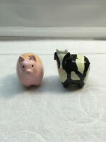 Alco Barn Yard  Salt and Pepper Shakers Pig  Cow Ceramic