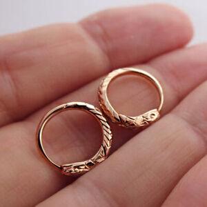 Fine Jewelry 18 Kt Hallmark Real Solid Rose Gold Snake Huggie Hoop Earrings
