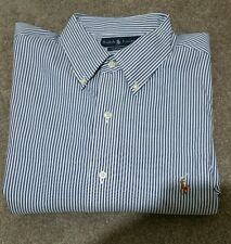 RALPH LAUREN CLASSIC FIT DRESS SHIRT STRIPED W/SIGNATURE PONY MENS 17 34/35