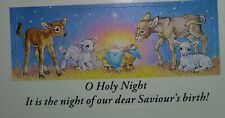24 Nativity Christmas Stickers O Holy Night Animals Christian Deer Jesus Sheep