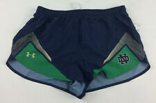 New Under Armour Notre Dame Fighting Irish Split Short Women's L Blue UJTSSPW