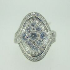 Rhodium Plated Sterling Silver Bella Luce JTV Ring Size 8