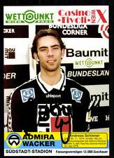 Andreas Schiener Autogrammkarte Admira Wacker Wien 1994-95 Original Sign +92731