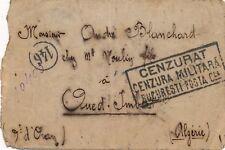 Lettre Braila Romania Cenzurat Bucuresti Algerie War WWII Brief Cover