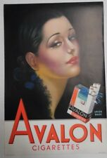 "Avalon woman in Black 18""x12"" Original Cigarette Advert Poster Circa 1930/40"