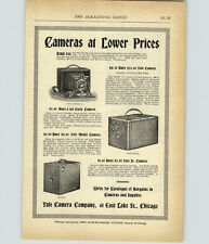 1899 PAPER AD Yale Camera Company Model A Folding Cycle Jr Junior Box Chicago