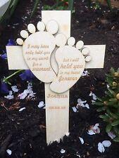 Personalised Baby Memorial Remembrance Cross Funeral
