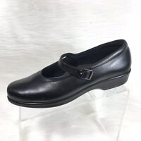 SAS Maria Women's Mary Jane shoes Black Leather  Comfort Size 10 N