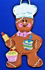 GINGERBREAD Kitchen Baking SIGN Wall Art Door Plaque Cupcake Baker Ginger Decor