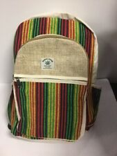 New Colourful rasta Unisex Hemp/cotton Backpack Made in Nepal