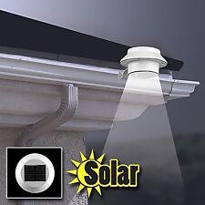 Solar Power Motion Sensor Outdoor Garden Security Gutter Spot LED Flood Light