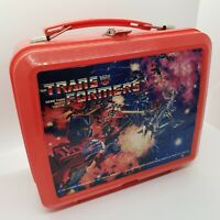 Vintage 1984 Transformers Plastic Lunchbox with Original Thermos Clean Complete